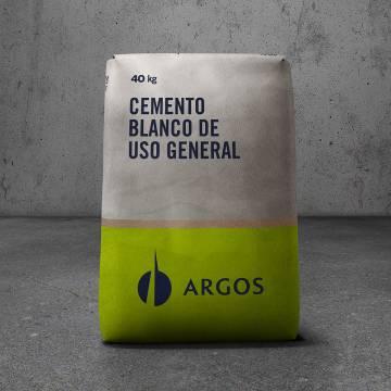 Cemento blanco x40kg Argos