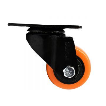 Rueda Rodaja PVC Naranja 64...
