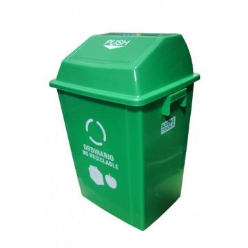 Caneca plástica verde 40lt...