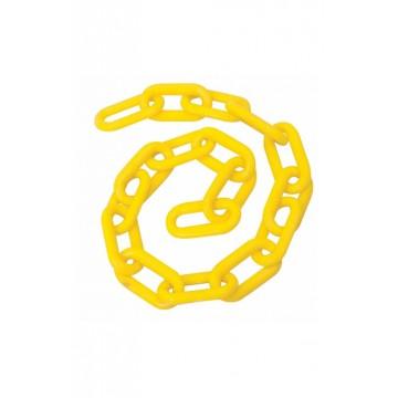 Cadena plastica amarilla 25...