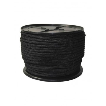 Cuerda driza 6mm negra...