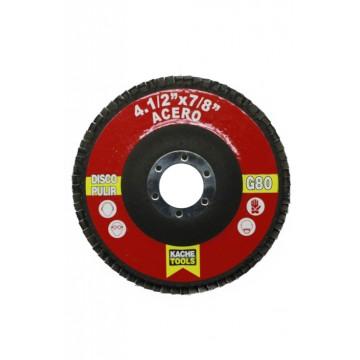 Disco pulir acero 4.1/2 X...