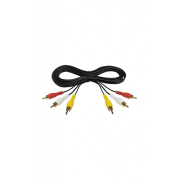 Cable rca 3 x 3 luzkal