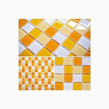 Mosaico cristal amarillo...