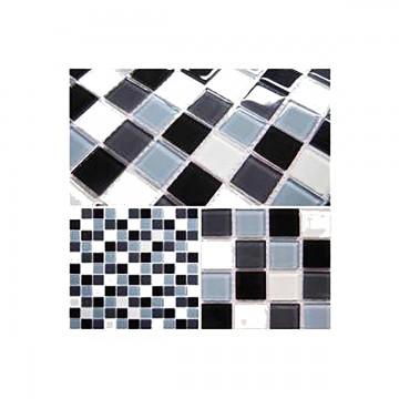 Mosaico cristal gris...
