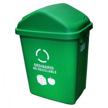 Caneca plastica verde 30lt...