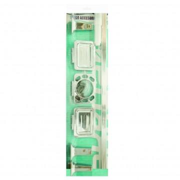 Combo sanitario unicolor happy con semipedestal azul oscuro corona 226251181