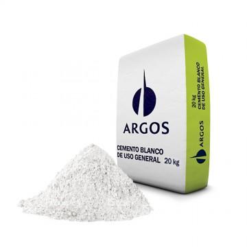 Cemento blanco por 20 kg argos