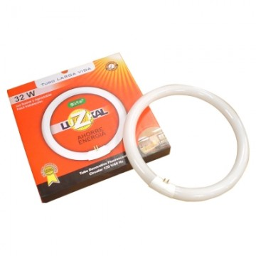 Tubo circular 32w luzkal...