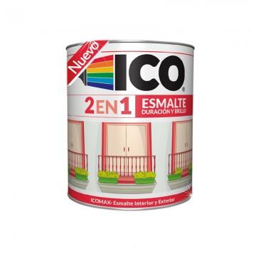 Esmalte icomax negro 1/4 galón