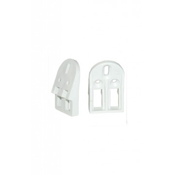 Grapa lavamanos blanca x2...