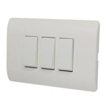 Interruptor triple c/placa...
