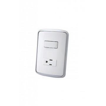 Interruptor + toma blanco...