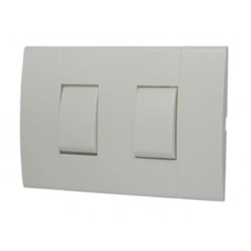 Interruptor doble c/placa...