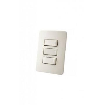 Interruptor triple blanco...