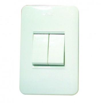 Interruptor doble blanco...