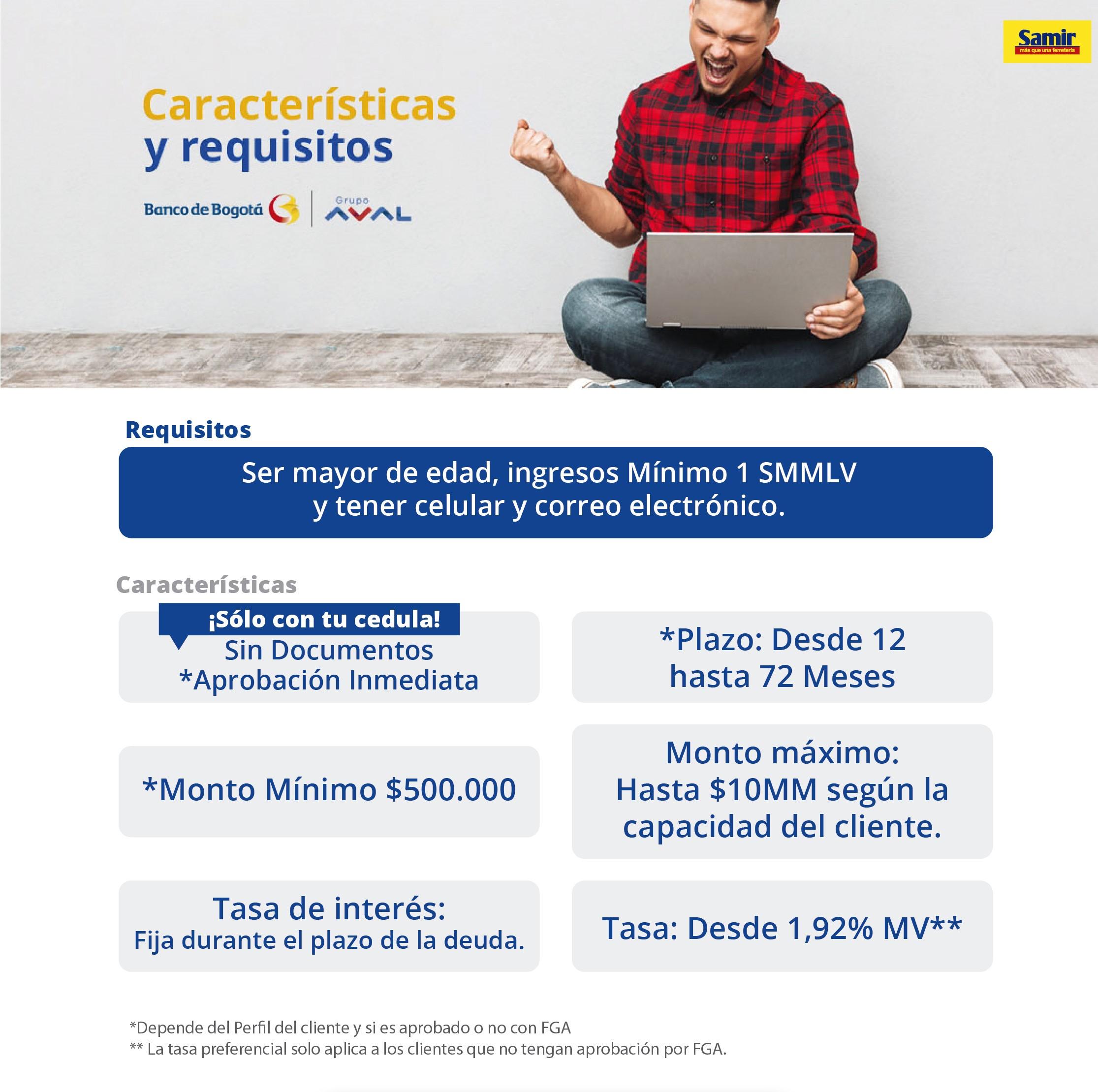 Credi Banco de Bogotá - Ferreteria Samir